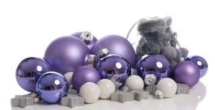 Шарики рождества с ботинками снежка Стоковые Изображения RF