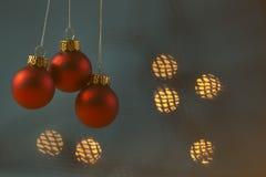 Шарики рождества с предпосылкой мягкого света Стоковые Изображения RF