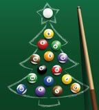 Шарики рождественской елки биллиарда бассейна иллюстрация штока