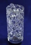 Шарики силикона на голубой предпосылке Стоковое Фото