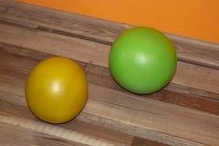 Шарики спорт для фитнеса в различных размерах стоковое изображение rf