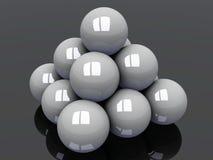 шарики с белизны пирамидки иллюстрация вектора