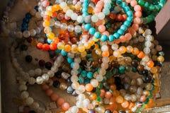 Шарики типа и цвета браслета различных Стоковое фото RF