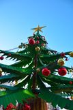 Шарики украшения рождества, красных и желтых Стоковые Фотографии RF