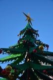 Шарики украшения рождества, красных и желтых Стоковое Фото