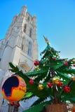 Шарики украшения рождества, красных и желтых Стоковое Изображение