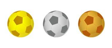 Шарики футбола иллюстрация вектора