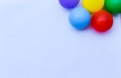 Шарики цвета на белой предпосылке Стоковые Изображения