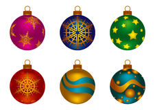 Шарики цвета рождества Стоковая Фотография