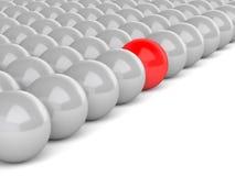 шарики шарика 3d приковывают одну красную белизну бесплатная иллюстрация