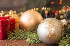 Шарики для рождественской елки украшение рождества традиционное Стоковые Изображения RF