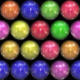 шарики 3d стекловидные Стоковое Изображение