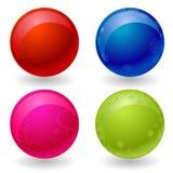 шарики 3d 4 красят вектор Стоковое Фото