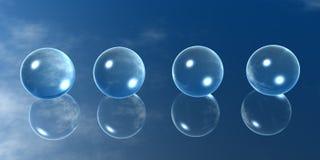 шарики 4 стекла Стоковые Изображения