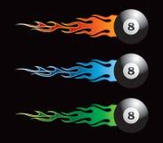 шарики 8 пылая Стоковое Изображение RF