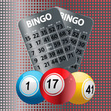 Шарики Bingo и металлические карточки Bingo Стоковое фото RF