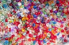 Шарики Colorfull стеклянные смешанные на заднем плане Стоковые Фотографии RF