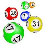 Шарики Lotto на белой предпосылке стоковое изображение