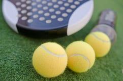 Шарики racketand тенниса затвора Стоковое Изображение RF