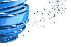 шарики striped 3D декоративные Стоковое фото RF