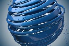 шарики striped 3D декоративные Стоковые Фото
