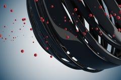 шарики striped 3D декоративные Стоковая Фотография