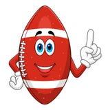 Шарик американского футбола шаржа Стоковое Изображение RF