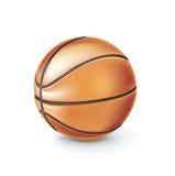 Шарик баскетбола изолированный на белизне Бесплатная Иллюстрация