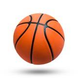 Шарик баскетбола над белой предпосылкой Стоковое фото RF