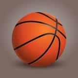 Шарик баскетбола на предпосылке Реалистическая иллюстрация вектора Стоковое Изображение RF