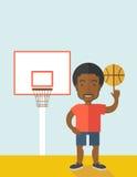 Шарик баскетболиста закручивая Стоковые Изображения