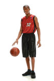Шарик баскетболиста капая Стоковое фото RF