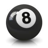 Шарик биллиарда 8 Стоковые Фотографии RF