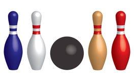 Шарик боулинга и штыри боулинга ( r бесплатная иллюстрация