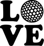 Шарик влюбленности гольфа бесплатная иллюстрация