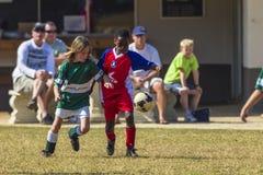 Шарик возможности младшего футбола Стоковые Фото