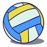 Шарик волейбола кожаный иллюстрация вектора