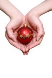 шарик вручает его новый год s Стоковые Изображения RF