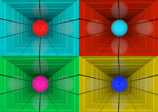 Шарик в тоннеле иллюстрация вектора