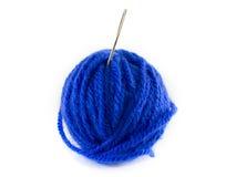 Шарик голубых шерстей Стоковые Изображения RF