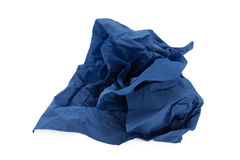 Шарик голубой бумаги Стоковые Фото