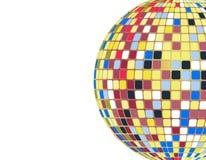 Шарик диско вектора красочный бесплатная иллюстрация