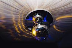 Шарик диско освещает вверх Стоковые Изображения RF