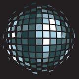 Шарик зеркала клуба диско (шарик яркого блеска) Стоковые Изображения RF