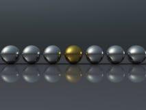 шарик золотистый Стоковые Фотографии RF