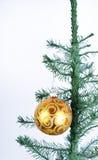 шарик золотистый Стоковые Изображения