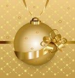 шарик золотистый Стоковая Фотография RF