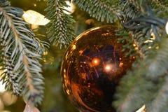 шарик золотистый Стоковое фото RF