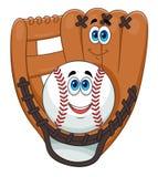 Шарик и перчатка бейсбола Стоковое Фото