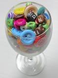 шарик и стекло Стоковая Фотография